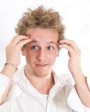 Dazed and Confused. A teenager looking dazed and confused Stock Images