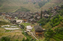 Dazhai minority village Stock Photography