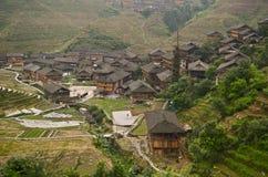 Dazhai minority village Stock Photography