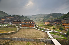 Dazhai minority village Royalty Free Stock Photo