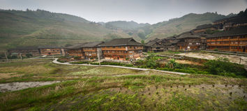 Dazhai minority village royalty free stock image