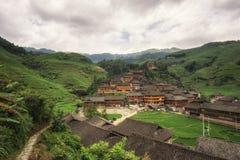 Dazhai wioska w porcelanie zdjęcie royalty free