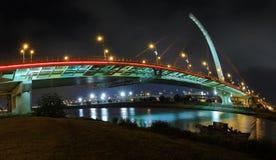Dazhi Bridge. Night view of the Dazhi Bridge in Taipei, Taiwan Royalty Free Stock Photography