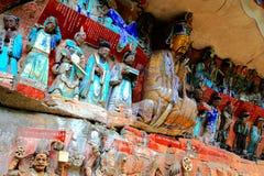 Dazu岩石雕刻,重庆,瓷 免版税库存图片