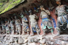 Dazu Bao Ding Mountain Rock Carvings Stock Photos