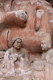 Dazu Bao Ding Mountain Rock Carvings. The Dazu Rock Carvings (Chinese: 大足石刻; pinyin: Dàzú Shíkè) are a series of Chinese religious sculptures and Royalty Free Stock Photos