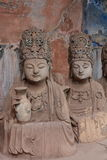 Dazu Bao Ding Mountain Rock Carvings. The Dazu Rock Carvings  are a series of Chinese religious sculptures and carvings, dating back as far as the 7th century A Stock Photos