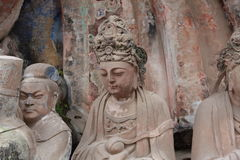 Dazu Bao Ding Mountain Rock Carvings Royalty Free Stock Photos