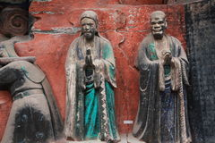 Dazu Bao Ding Mountain Rock Carvings Stock Image