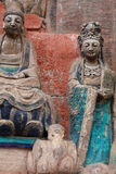 Dazu Bao Ding Mountain Rock Carvings. The Dazu Rock Carvings (Chinese: 大足石刻; pinyin: Dàzú Shíkè) are a series of Chinese religious sculptures and Royalty Free Stock Photography