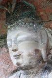 Dazu carvings. Ancient dazu carvings,near Chongqing , China. Original carvings date back to 892 AD Stock Photo