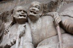 Dazu carvings. Ancient dazu carvings,near Chongqing , China. Original carvings date back to 892 AD Stock Images