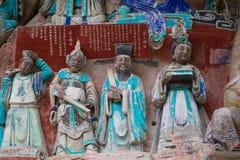 Dazu Felsen Carvings, Chongqing, Porzellan Stockfotos