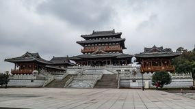 Dazu-Felsritzungs-Museum, chinesischer Song-Dynastie-Baustil lizenzfreie stockfotografie