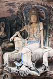 Dazu Rock Carvings�Orient Venus� Royalty Free Stock Photography