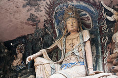 Dazu Rock Carvings(Orient Venus). The Dazu Rock Carvings (Chinese: 大足石刻; pinyin: Dàzú Shíkè) are a series of Chinese religious sculptures royalty free stock photos