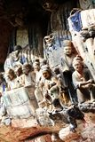 Dazu Rock carvings. The Dazu Rock Carvings are a series of Chinese religious sculptures and carvings, dating back as far as the 7th century A.D., depicting and Royalty Free Stock Photos