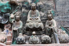 Dazu Rock Carvings Stock Image