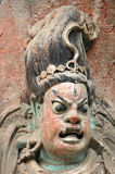 Dazu Rock Carvings, China. The Dazu Rock Carvings in Dazu County (China) is a collection of Budhist statues and compositions of the highest artistic attainment Royalty Free Stock Photos