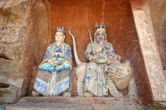 Dazu Rock Carvings. In Chongqing, China Royalty Free Stock Images