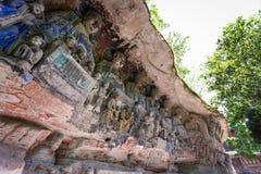 Dazu Rock Carvings. In Chongqing, China Royalty Free Stock Photos