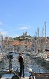 DAzur Провансали CÃ'te, Франция - порт марселя старый стоковое фото