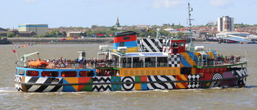Dazzle Ferry On The River Mersey Stock Image