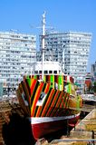 Dazzle Ship, Liverpool. Stock Images