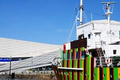 The Dazzle Ship, Liverpool. Stock Photography