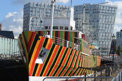 Dazzle Ship, Liverpool, UK Stock Photo