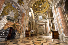 The Dazzling Beauty of st.Peter's Cathedral. Vatican. The interior of st.Peter's cathedral Stock Photos