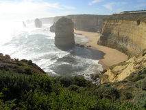Dazzling coast. View of the twelve apostles on Australia's Great Ocean Road Royalty Free Stock Images
