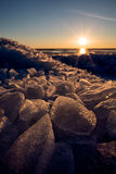 Dazzling ice stack Stock Images