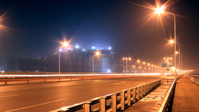 The dazzling light of a street lamp Royalty Free Stock Photo