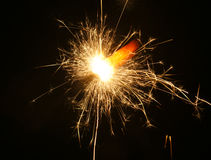 Dazzling sparkles of Diwali. Electrifying sparkles from a cracker during Diwali, celebrated in India Stock Photography