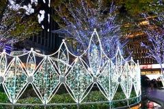 2018 Winter Illumination at Hakata Station, Fukuoka. Dazzling themed winter illumination light sculpture at JR Hakata Station. Named Hikari no Machi Hakata royalty free stock photo