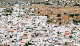 Dazzling White Village Stock Photography
