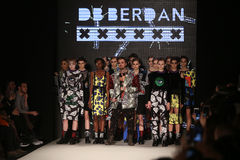 DB Berdan Catwalk in Mercedes-Benz Fashion Week Istanbul Royalty Free Stock Photography