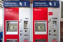 DB bileta maszyny Zdjęcia Stock
