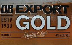 DB Export Gold Beer Royalty Free Stock Photos