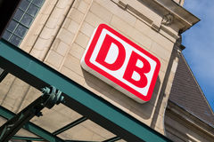 DB Logo at Koblenz Main Station Royalty Free Stock Photography