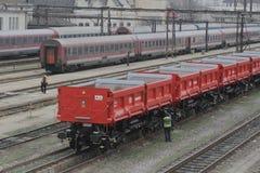 DB Schenker freight train Stock Photo