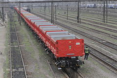 DB Schenker freight train Stock Images