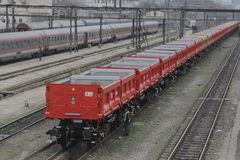 DB Schenker freight train Royalty Free Stock Photo
