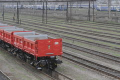 DB Schenker freight train Royalty Free Stock Image