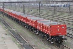 DB Schenker freight train Stock Image