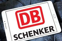 DB Schenker postal shipping company logo. Logo of DB Schenker postal shipping company on samsung tablet Stock Image