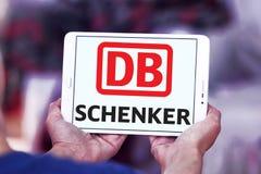 DB Schenker postal shipping company logo. Logo of DB Schenker postal shipping company on samsung tablet Royalty Free Stock Photo