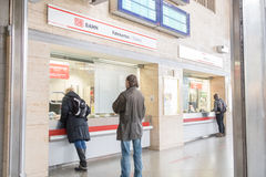 DB ticket counter Stock Images