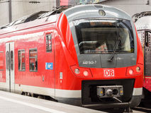 DB train. A train of the Deutsche Bahn in munich central station Royalty Free Stock Photo